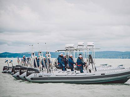 NEW POLICE BOAT FLEET ON THE LAKE BALATON
