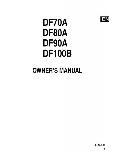 Suzuki Df70 Beep Codes