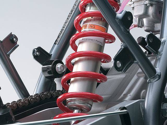 Rear shock absorber spring preload is fully adjustable
