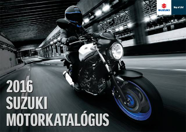 2016 Suzuki Motorkatalógus