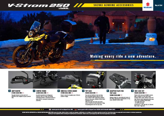 V-Strom 250 ABS Accessory leaflet