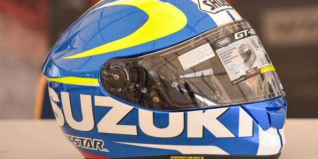 The charity auction of the Shoei Suzuki GT-Air helmet led to a noble donation