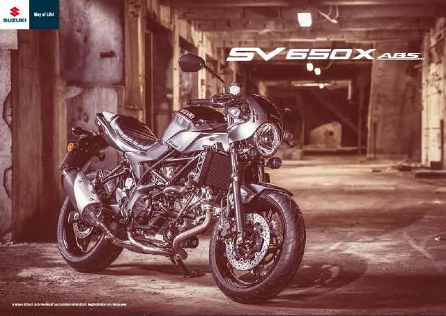 SV650X katalógus