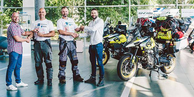 Two Hungarians embark on a journey to Japan on their V-Strom1000XT motorcycles