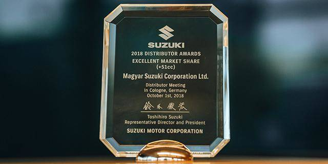 Podium successes in Suzuki motorcycle sales